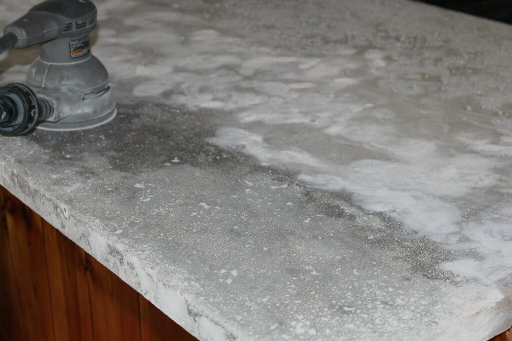 How to get beeswax off a counter top or table surface 5 steps - You Can Go Very High And Get It To Look Almost Like Glass But That S Not The Look We Were Going For Concrete Countertops