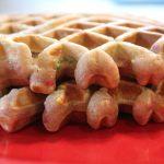 Cake Batter Waffles: 3ten.ca #waffles #breakfast