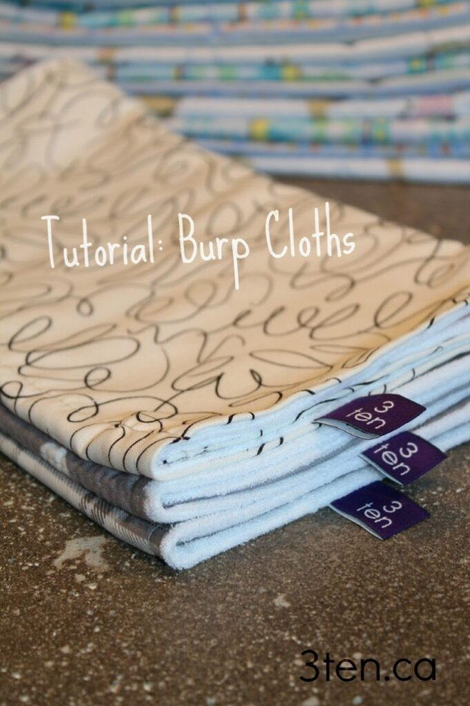 Tutorial Burp Cloths 2: 3ten.ca