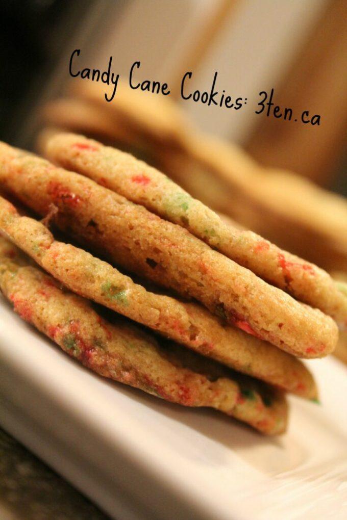 Candy Cane Cookies: 3ten.ca #cookies #candycane