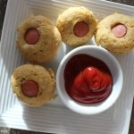 Mini Corn Dog Muffins: 3ten.ca #hotdog #corn #muffins #snack