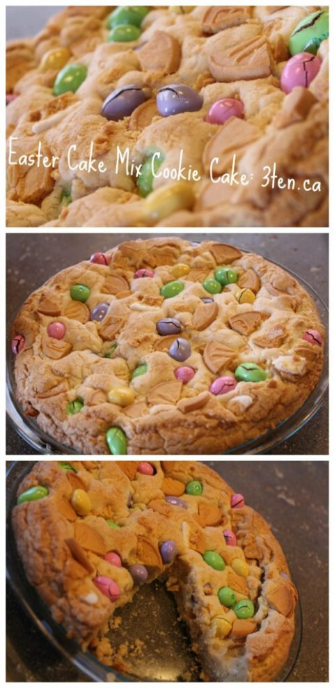 Easter Cake Mix Cookie Cake: 3ten.ca