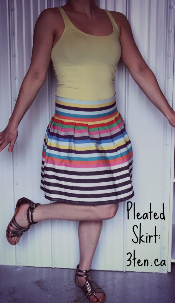 Tutorial: Pleated Skirt: 3ten.ca #sewing #diy #fashion #style
