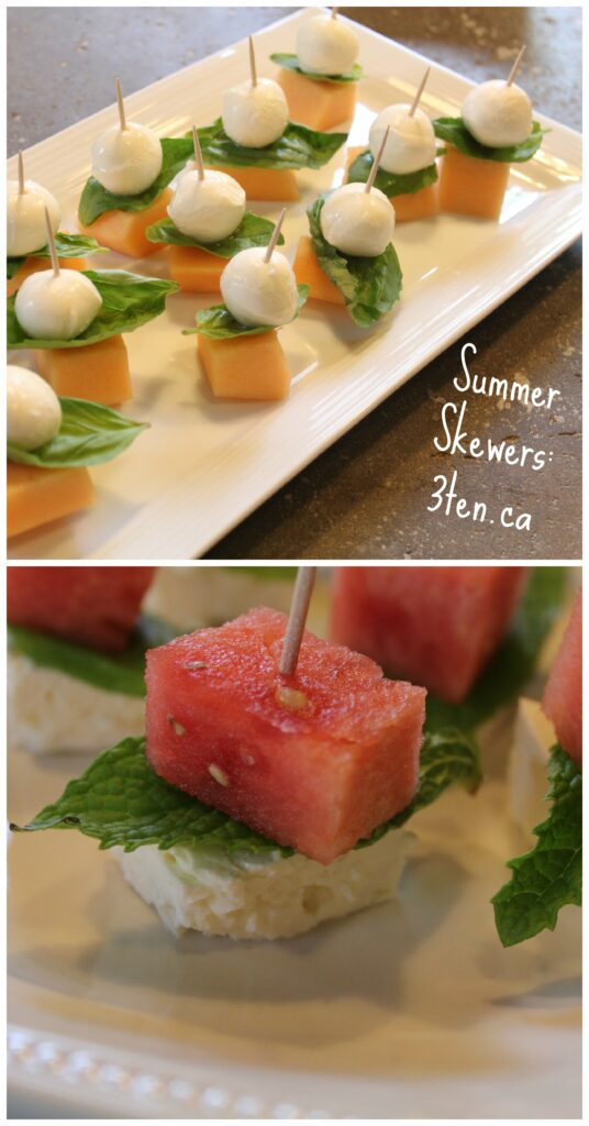 Summer Skewers: 3ten.ca #appetizers #summereats