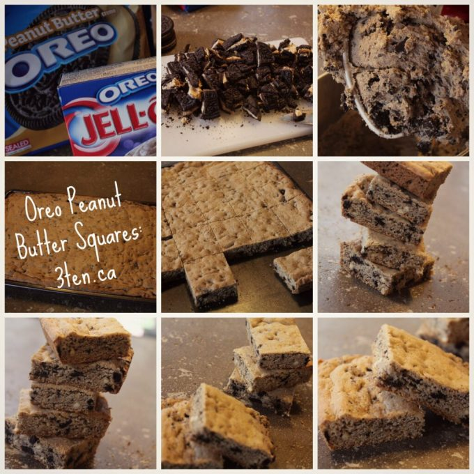Oreo Peanut Butter Squares: 3ten.ca #oreo #treat