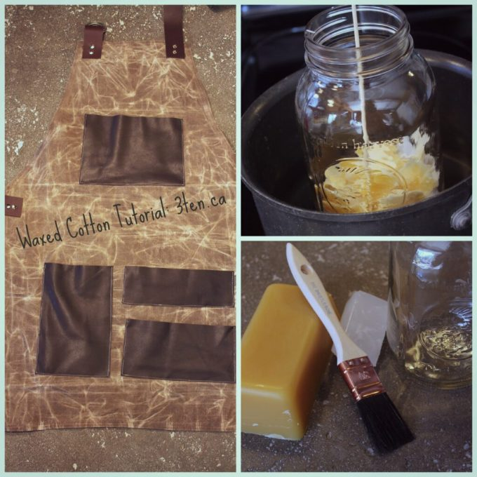 Waxed Cotton Tutorial: 3ten.ca #tutorial