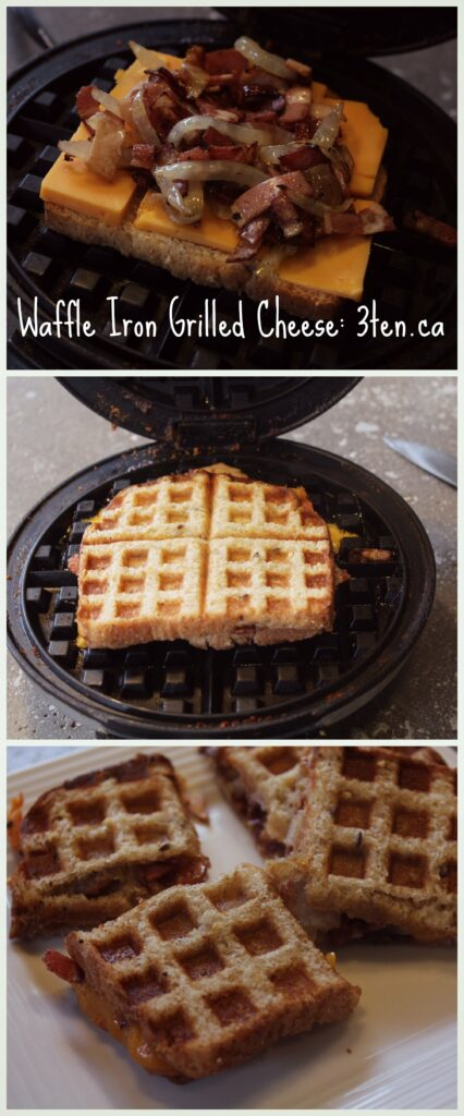 Waffle Iron Grilled Cheese: 3ten.ca #bacon