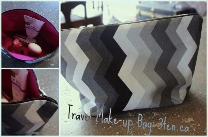 Travel Make-Up Bag Tutorial: 3ten.ca