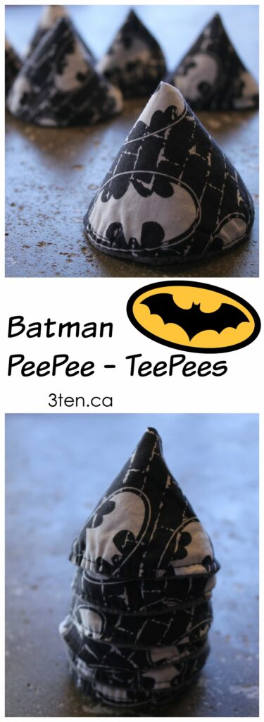 Batman PeePee TeePees: 3ten.ca #sewing