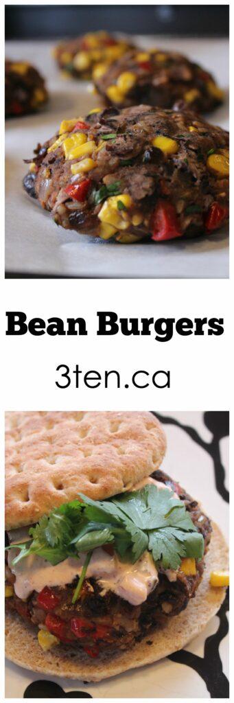 Bean Burgers: 3ten.ca #meatlessmonday