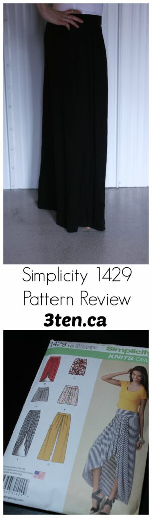 Simplicity 1429 Pattern Review: 3ten.ca