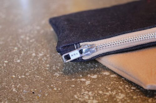Jean & Leather Clutch: 3ten.ca