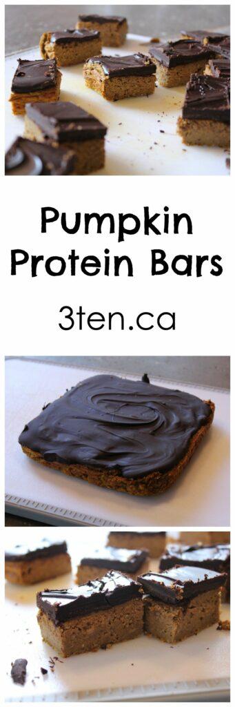 Pumpkin Protein Bars: 3ten.ca