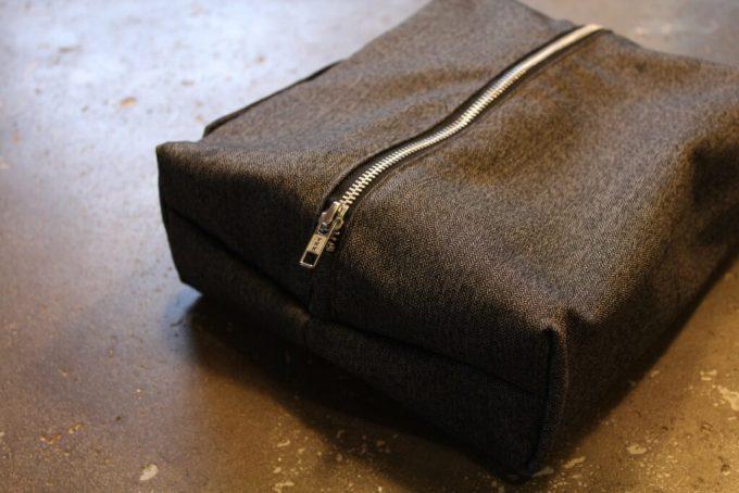 Waxed Cotton Dopp Kit: 3ten.ca