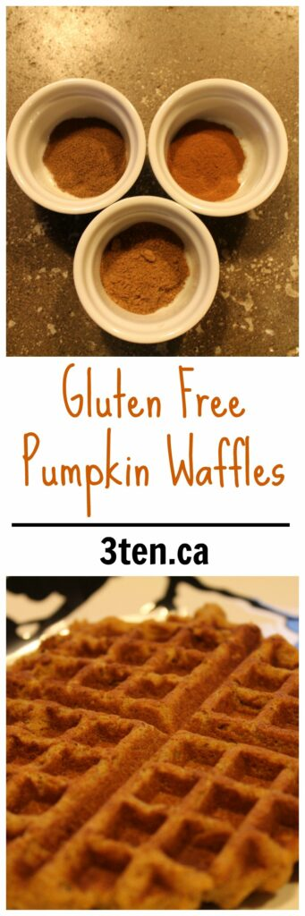 Gluten Free Pumpkin Waffles: 3ten.ca