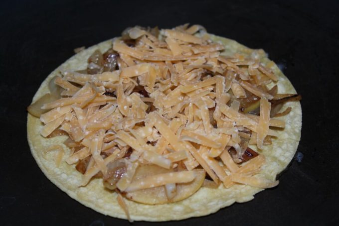 Gouda Quesadilla with Apple and Onions: 3ten.ca