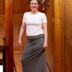 Elastic Maxi Skirt