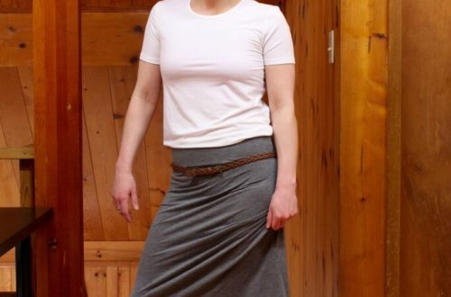 Elastic Maxi Skirt: 3ten.ca