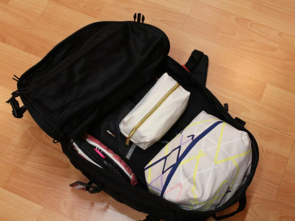 Packing in a 33L Backpack: 3ten.ca