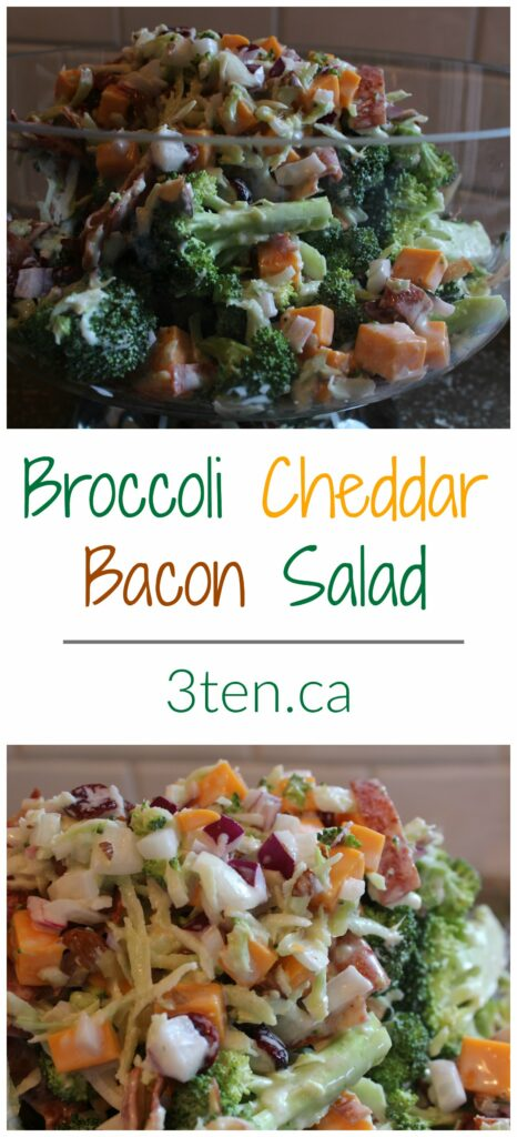 Broccoli Cheddar Bacon Salad: 3ten.ca