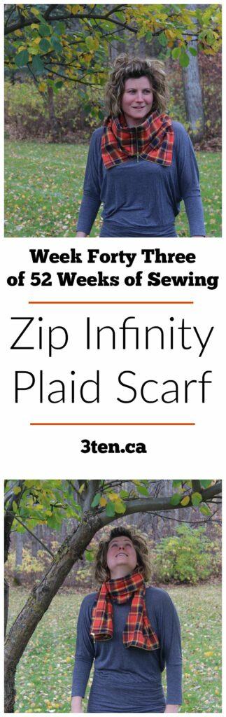 Zip Infinity Plaid Scarf: 3ten.ca