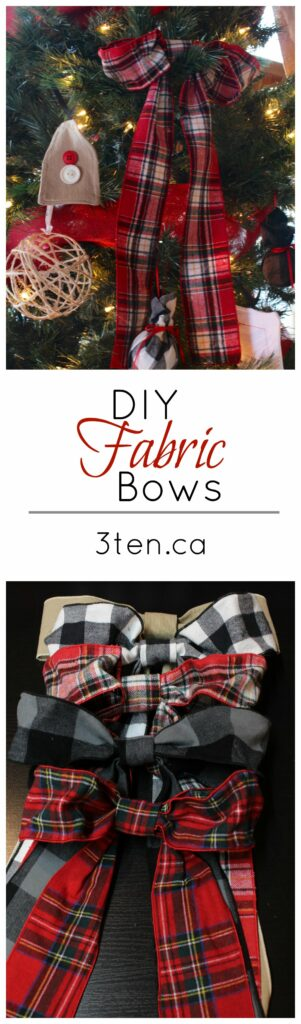 DIY Fabric Bows: 3ten.ca