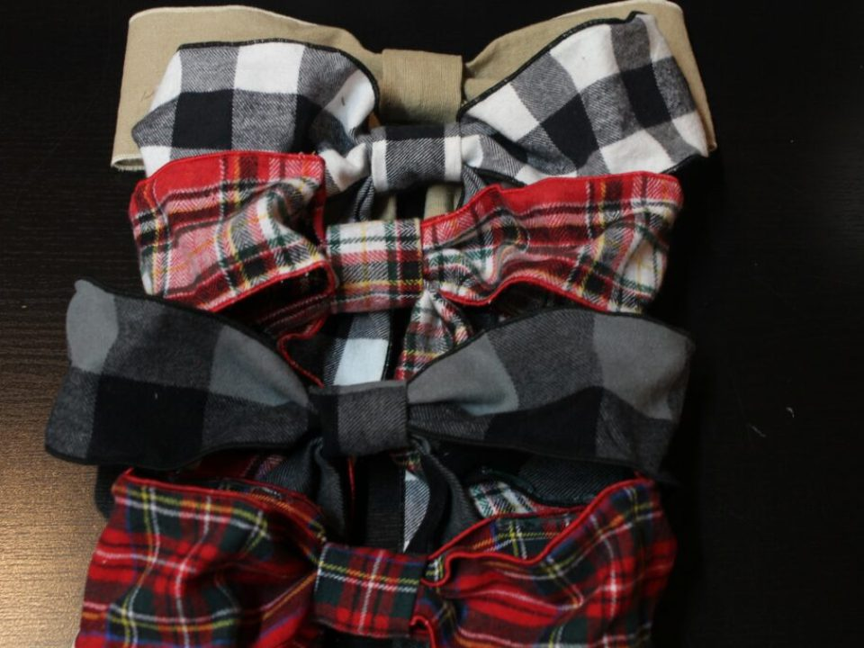 Fabric Holiday Bows: 3ten.ca