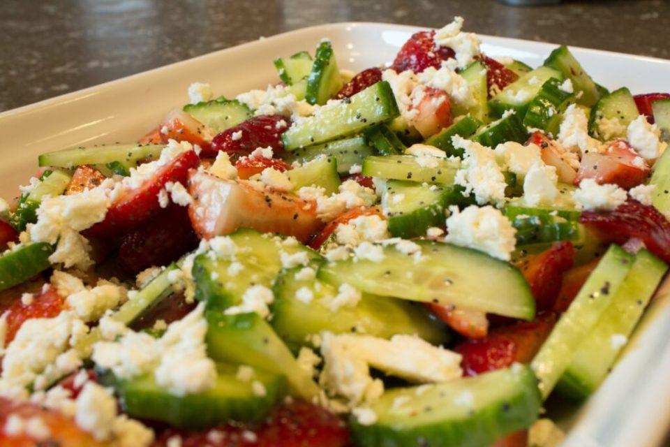 Cucumber Strawberry Salad: 3ten.ca