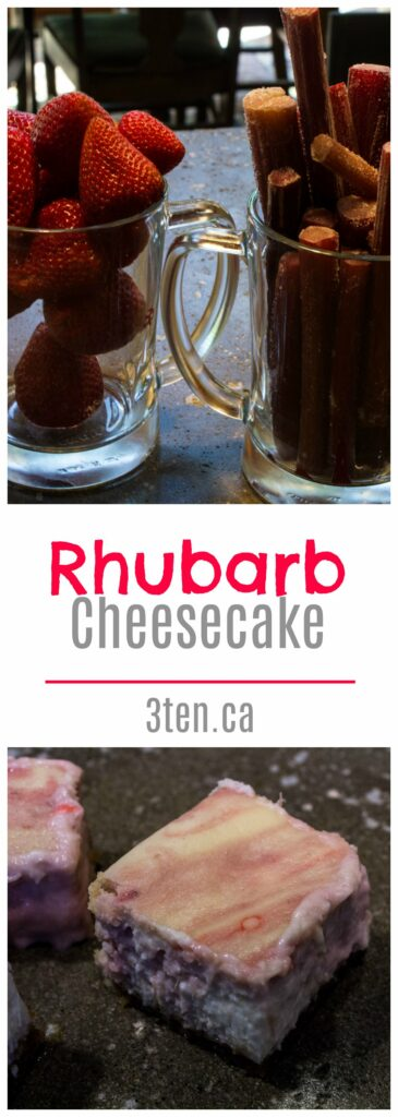 Rhubarb Cheesecake: 3ten.ca