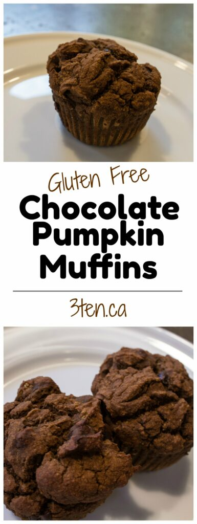 Chocolate Pumpkin Muffins: 3ten.ca