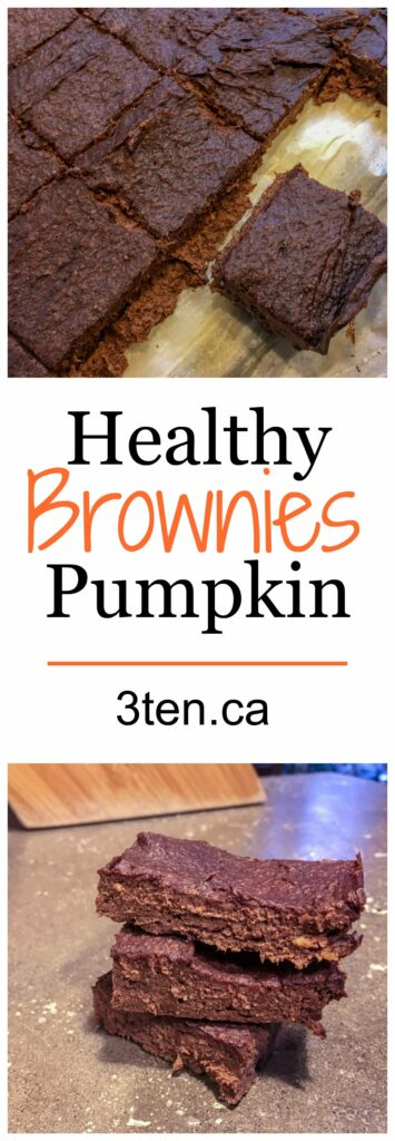 Healthy Pumpkin Brownies: 3ten.ca