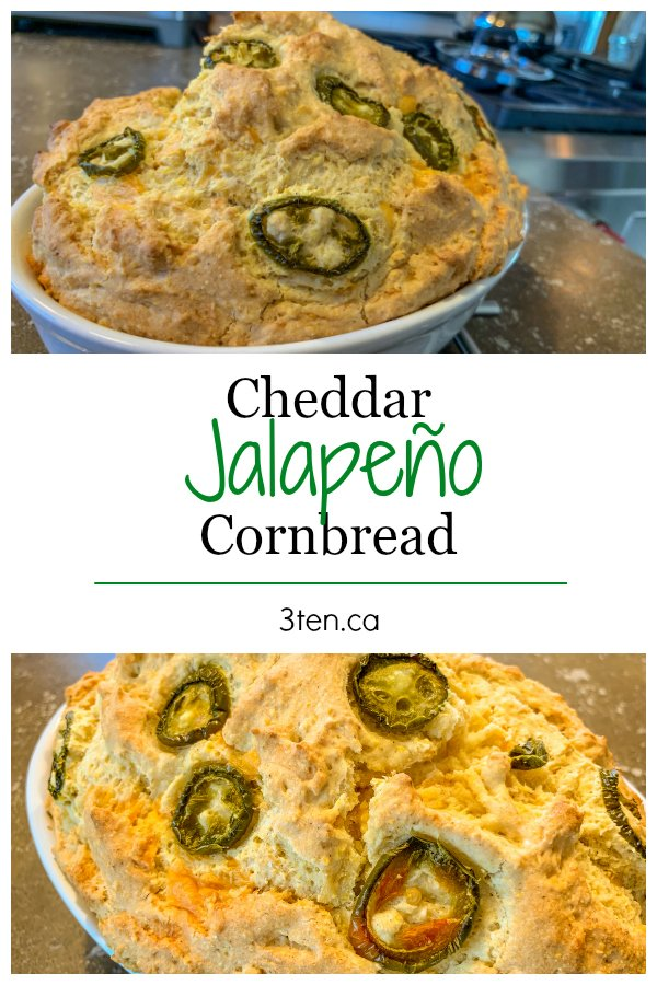 Jalapeño Cheddar Cornbread: 3ten.ca