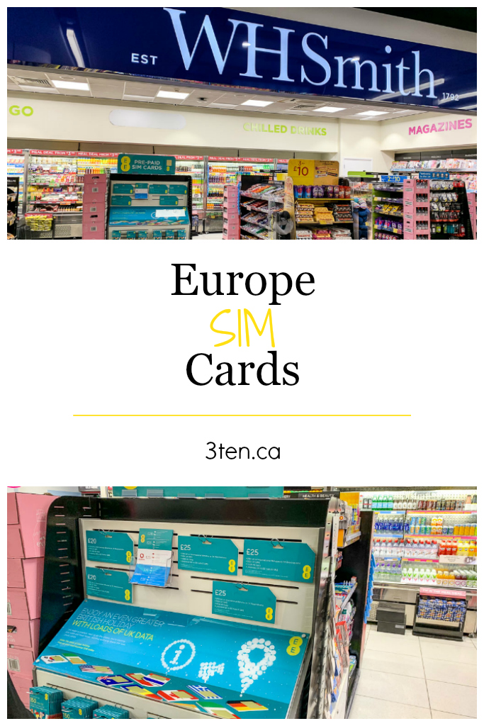 Europe Sim Cards: 3ten.ca