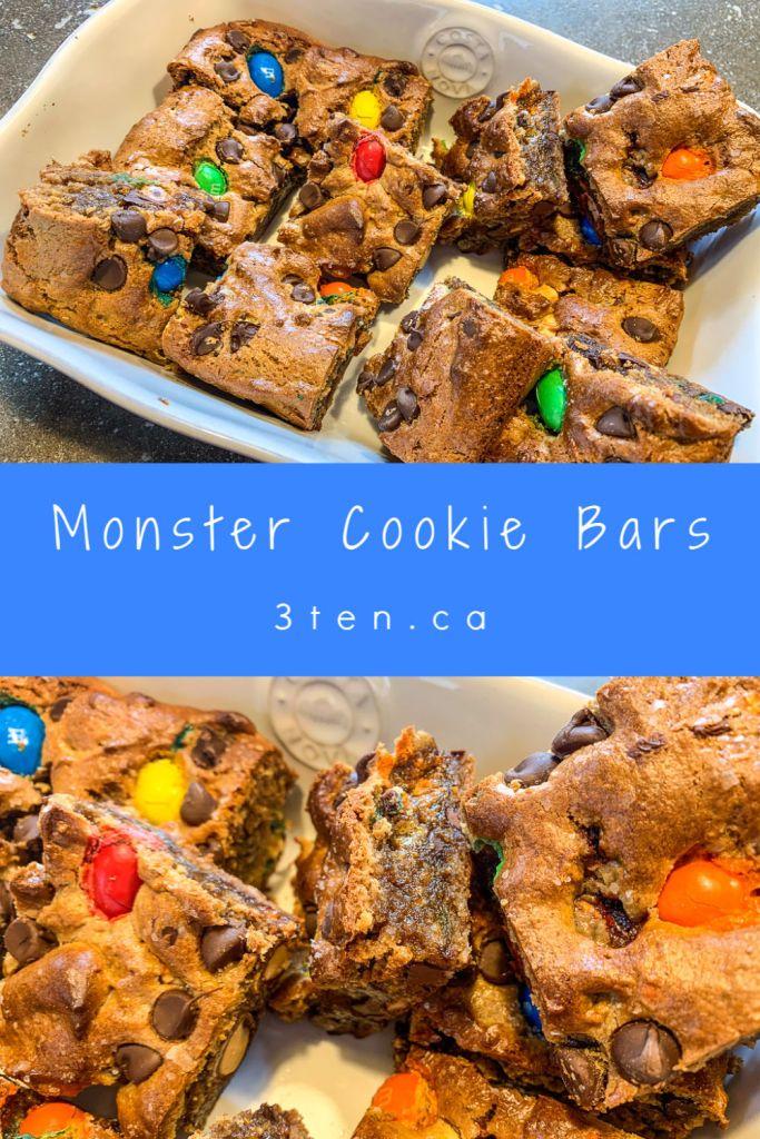 Monster Cookie Bars: 3ten.ca