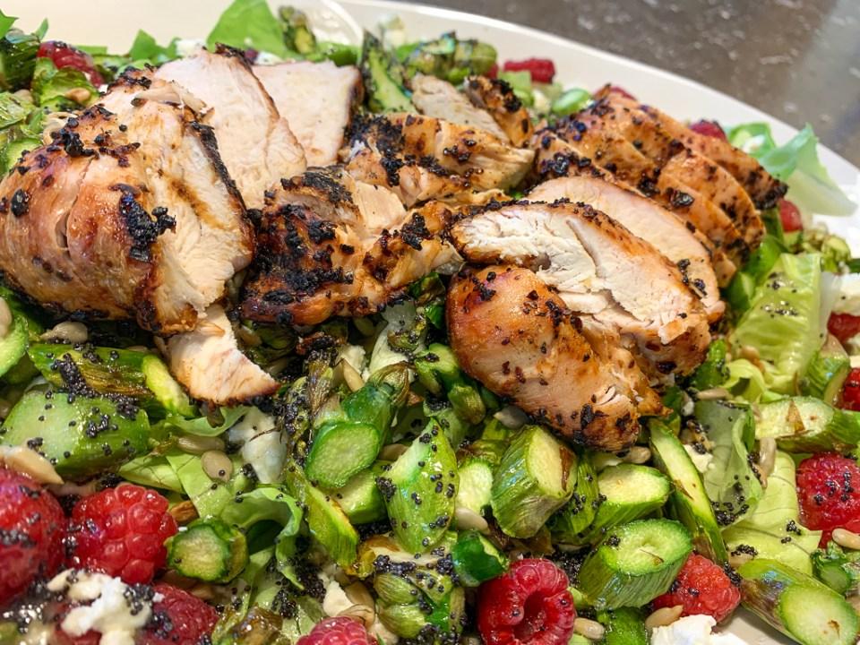 Asparagus and Raspberry Salad: 3ten.ca