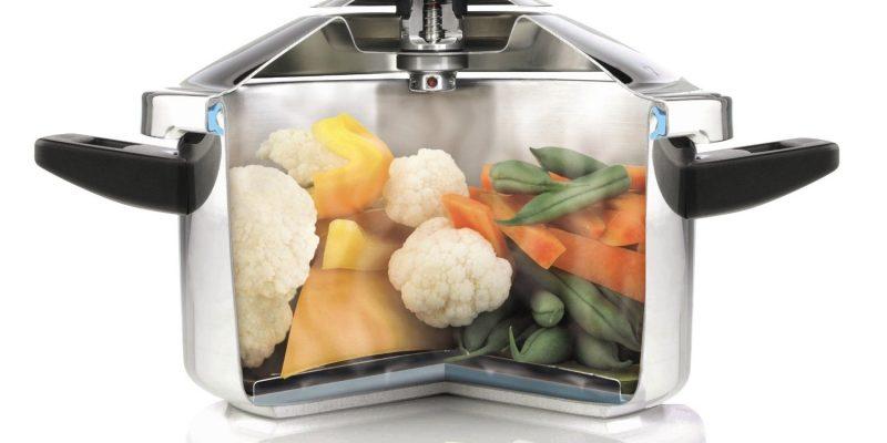 Pressure-cooking vegetables