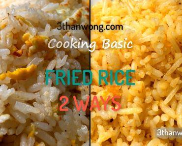 regular fried rice golden fried rice 炒饭 黄金蛋炒饭
