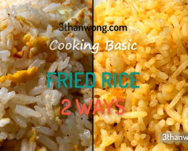 regular fried rice golden fried rice 炒饭 黄金蛋炒饭