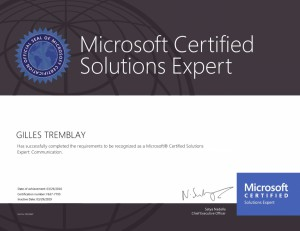 Microsoft Certified Solutions Expert - Communication