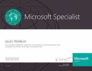 Microsoft Specialist - Server Virtualization with Windows Server Hyper-V and System Center
