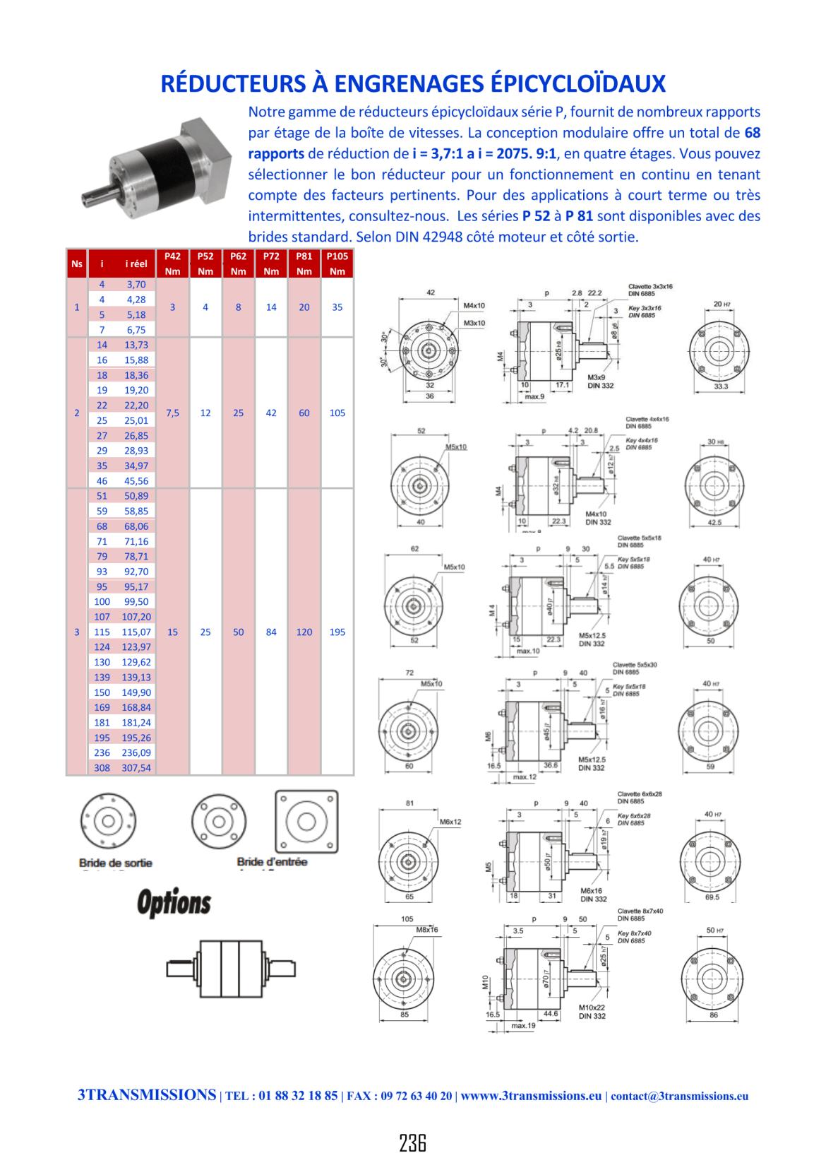 Catalogue 3Transmissions - Réducteur planétaire engrenages épicycloïdaux