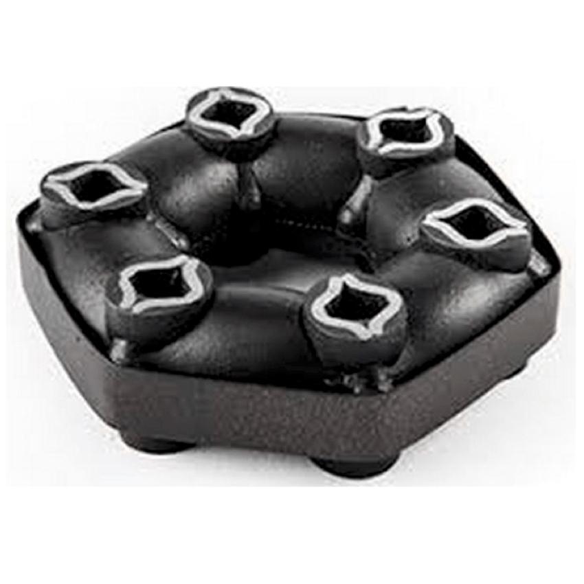 Accouplement élastique Hexaflex, anneaux élastique caoutchouc métal, antivibration