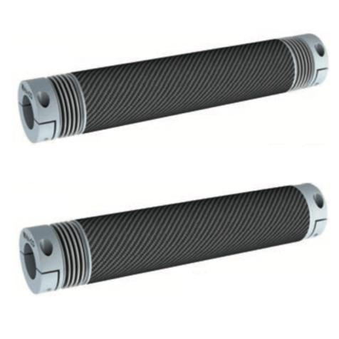 Arbre flexible carbone à soufflet métallique