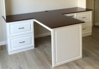 Custom Desk With Cherry Countertop.