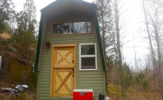Man Building Diy Off Grid Tiny Home For Less Than 2k Part 2
