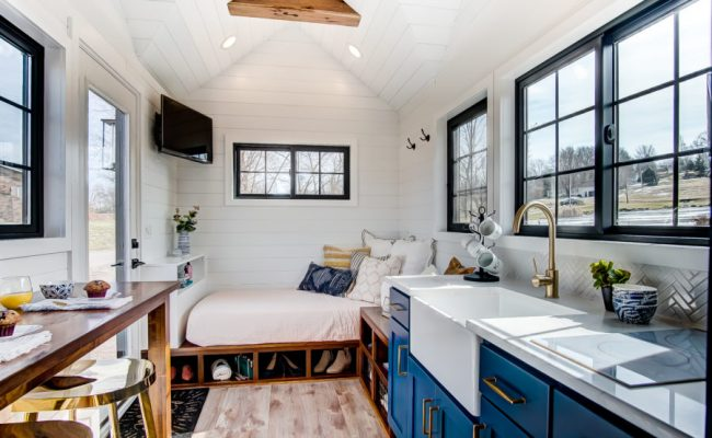 100k Tiny House With Two Main Floor Sleeping Areas