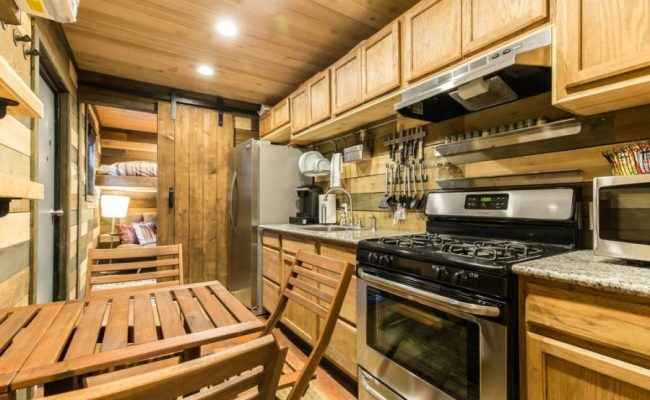 Blue Steel Shipping Container Tiny House In Dallas