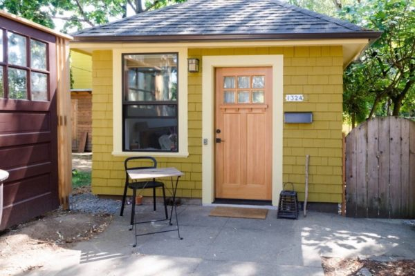 Old Garage Converted Into Tiny Cottage