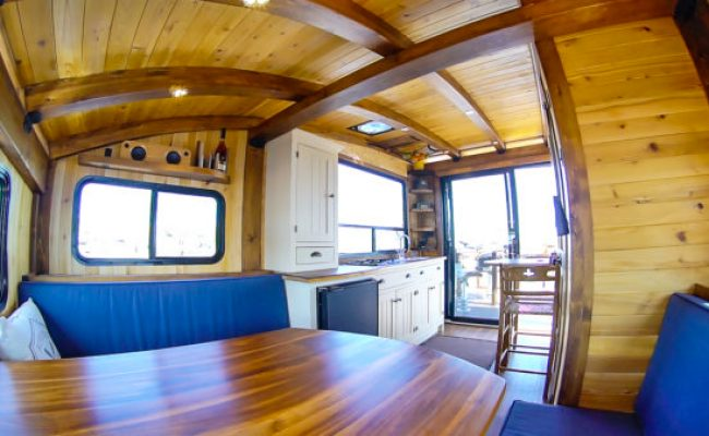 Woodworker Builds The Perfect Tiny Houseboat