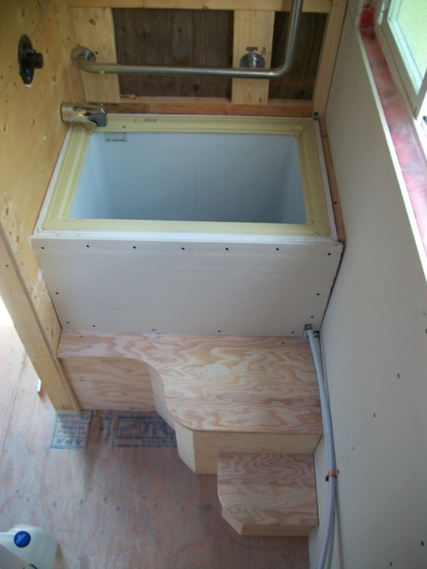 Diy Deck Drawer Pete's 125 Sq. Ft. Tiny House On Wheels In British Columbia